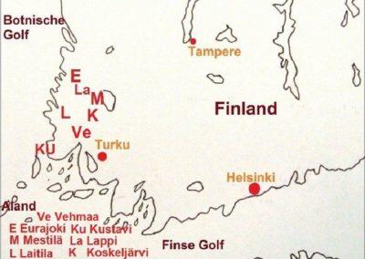 1. Finse rapakivigranieten. Herkomstgebieden.