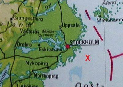 1. Bruine Oostzee kwartsporfier. Herkomst.