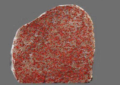 7. Vlekkengesteente. Drogeham De steen heeft de grondmassa van een Stockholmgraniet