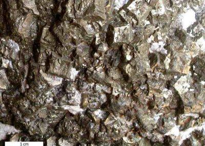 2. We zien hier de kubusachtige pyriet