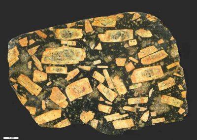 6. Rechthoekporfier. Livo. Dk. Waarschijnlijk hoort deze steen bij de Ägärdsli typen uit Krogskogen.
